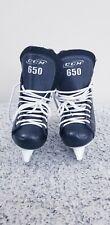 New listing �� Ccm 650 Powerline Black White Ice Hockey Skates Size 3 Great Condition