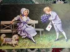 PostCard Greeting for You 1911 Victorian Usa 1 cent Green Stamp Vintage