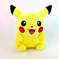 """Vintage 1998 Nintendo Pokemon Pikachu 10"""" Soft Plush Toy Takara Tomy VGC"""
