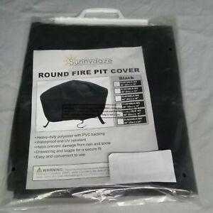 Sunnydaze Decor 30in Black Weather Resistant Round Fire Pit Cover FI-3012BLK-INV
