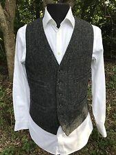 Exquisite J. Crew Gray Herringbone Moon Tweed Vest Waistcoat Medium