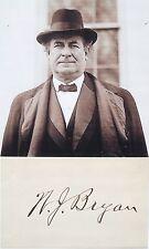 William Jennings Bryan 41st United States Secretary State Autograph          #2
