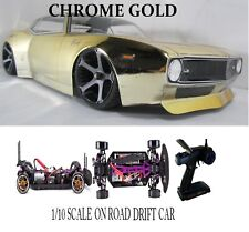 Custom 1/10 Scale Remote Control On-road Drift Car RC CAMARO GOLD
