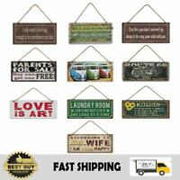 Country Vintage Retro Metal Tin Home Signs Wall Decor Bar Pub Humour Funny Sign
