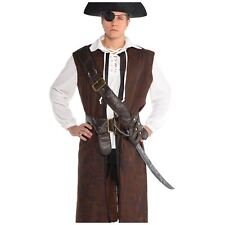 Adult Mens Brown Faux Leather Pirate Bandolier Belt Fancy Dresss Accessory