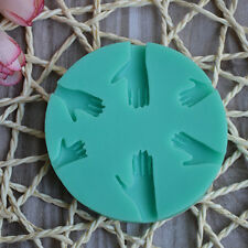 Fashion Human Hand Fondant Cake Decorating Silicone Mould Fimo DIY Mold ToolsFH