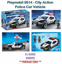 Playmobil 5614 - City Action - Police Car Vehicle - Includes Two Figures