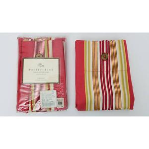 2 Pottery Barn French Stripe Standard Pillow Shams Cotton 20 x 26 New