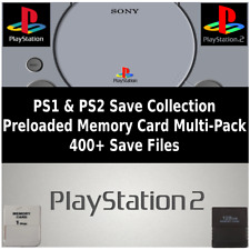 PS2 & PS1 Save Collection Multi-Pack | 400+ Saves | 100% Complete | Memory Cards