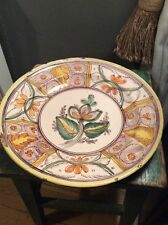 Large Polychrome Faience Delft Charger Plate Early 19th Century 18 Th Century
