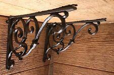 "Cast Iron Corner Shelf Brace 12 3/4"" Deep (Set of Two) Home Decor 0184S-0161"