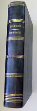 ANTIQUE LEATHER BINDING BOOK HOMERE ODYSSEE  1828