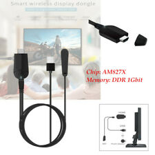 4K Phone TV Mirror Screen Wireless Display Adapter DDR 1Gbit Dual Frequency DC5V