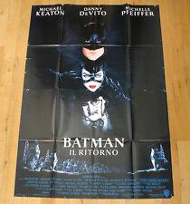 BATMAN IL RITORNO poster manifesto Michael Keaton Catwoman Pinguino Returns 1992