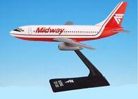 Flight Miniatures Midway Boeing 737-200 Desk Top Display 1/180 Model Airplane