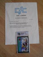 STEVE McNAIR Autographed 1995 Signature Prime NFL Rookie Card GAI Certified