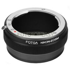 FOTGA Adapter for Nikon F AI AIS Mount lens to Canon EF-M EOS M M2 M3 M5 M6 M10