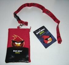 Red Angry Bird Space Lanyard rovio Fast Pass ID Badge Holder Zipper Wallet Pouch