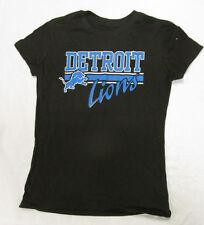 Nfl Team Apparel Detriot Lions Black Adult Women's T-Shirt S Small Tee New