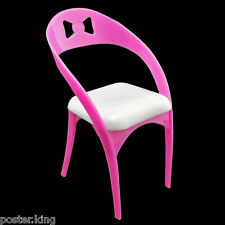 Pink Design Chair 1/6 Scale Barbie Monster High Doll's House Dollhouse Furniture