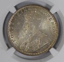 British India 1919 B Rupee silver NGC MS64 full luster rare grade NG0773 combine