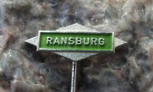 Vintage Ransburg Company Firm Advertising Logo Pin Badge