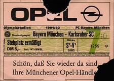Ticket BL 91/92 FC Bayern München - Karlsruher SC, Stehplatz ermäßigt