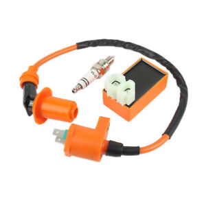 Ignition Coil CDI Spark Plug Kit For Gy6 Motorcycle Scooter ATV 50cc 125cc 150cc