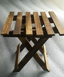 Sample work of small antique slat folding table for production size 6.5 - 7 inch