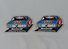 "Vintage STP Sticker Set of (2) Featuring Richard Petty ""King Richard the Sixth"""