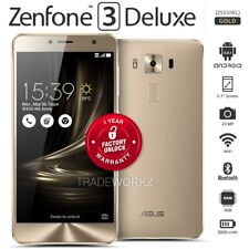 "Unlocked ASUS Zenfone 3 Deluxe ZS550KL Gold 5.5"" IPS LCD Android Mobile Phone"
