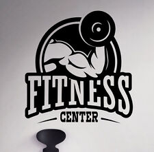 Fitness Center Wall Decal Gym Vinyl Sticker Sport Home Removable Decor 6(nse)