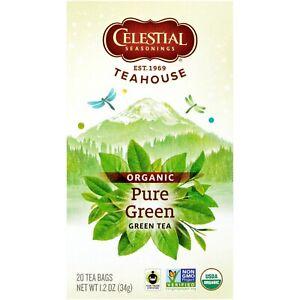 Celestial Seasonings Organic, GMO-Free Pure Green Tea Bags