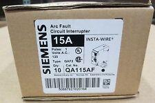 10 x Siemens ITE QA115AF 15-Amp, Single Pole, 120-volt, Plug On Type Q ARC FAULT