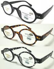 201887 Superb Quality Reading Glasses/Spring Hinges & Retro Small Round Designed