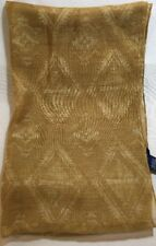 Chaps Womens Gold 100% Acrylic Scarf