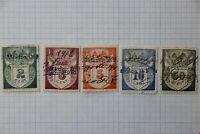 Mexico Revenue 1912-1913 used partial set