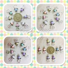 Handmade Small Angel Charms, Baby Loss Charms, Pack Of 8, Pastel Baby Colours