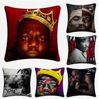 TUPAC 2PAC BIGGIE SMALLS Cushion Covers! Rap Legends Notorious BIG 45cm Gift UK
