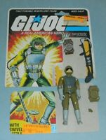 1983 GI Joe Mine Detector Tripwire v1 Figure w/ File Card Back *Complete BROKEN*