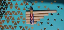 Handmade Mexican Chill Pan Flute 5 Pipes Native Gift keychain