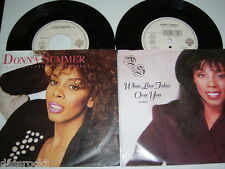 """2 x 7"""" - Donna Summer / When loves takes over you This Time i know # 3318"""