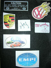 Stickers Decals for VW beetle bug bus ghia Aircooled EMPI Westfalia Porsche