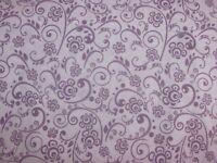 Flowers Berry Swirl Climbing Vines Purple Tones on Cotton Fabric By The Yard