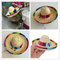 2 Style Sombrero Puppy Cat Mexican Hat Pet Dog Clothing Halloween Decor Supplies