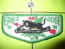 OA Eriez Lodge 46,S-2,1960s,BLK Panther Flap,251,256,Washington Trail Council,PA