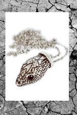 Snake/Serpent Head Pendant Layering Necklace Silver Goth Boho Festival Rock Punk