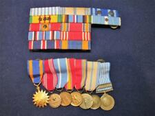 WWII~KOREAN~VIETNAM War Ribbon Bar & Miniature Medals USAF Air, Good Conduct N/R