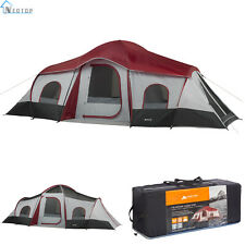 Ozark Trail 10-Person 3-Room Cabin Tent Family Camping Outdoor Waterproof Season