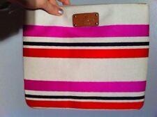 NWT Kate Spade Adrianne Oak Island stripe Large Flat Pouch Clutch Bag Purse
